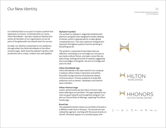 Hilton Worldwide Brand Guidelines by Michael Weil at Coroflot com
