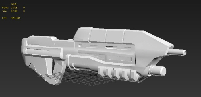 Halo Gun remake - Based on sketch art by Youssef Atrassi at