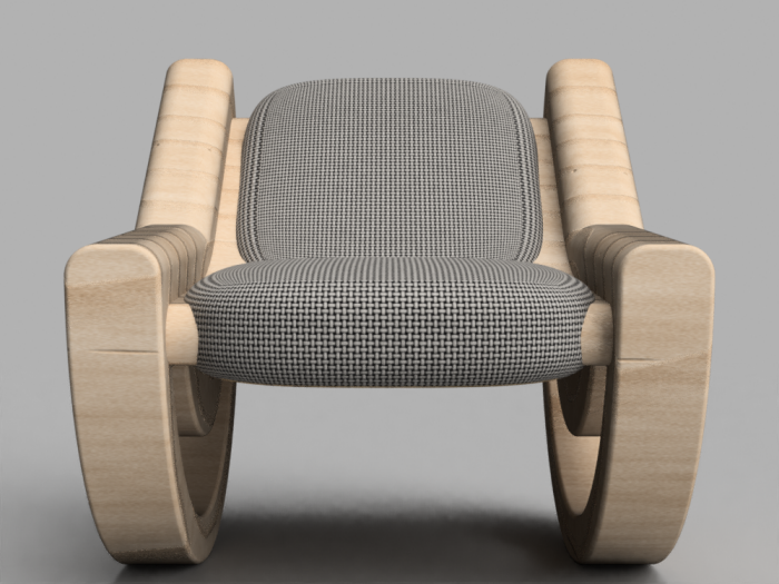 Tremendous Circular Wedge Rocker Chair By Jordan Linton At Coroflot Com Customarchery Wood Chair Design Ideas Customarcherynet