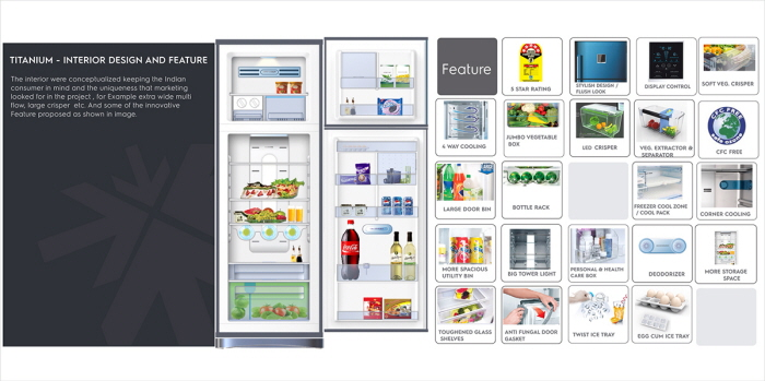 Titanium: Videocon Frost Free Refrigerator by himanshu soni