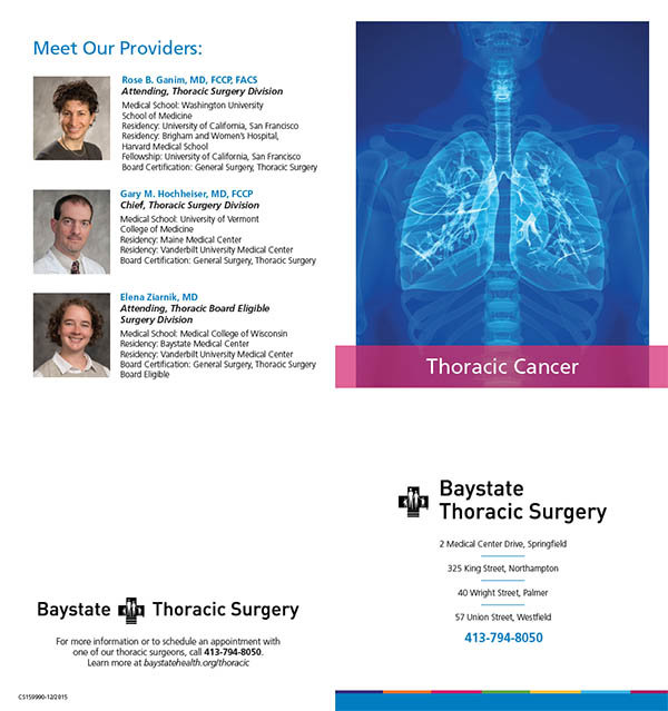 Thoracic Brochure for Baystate Health by Carol Lovell at