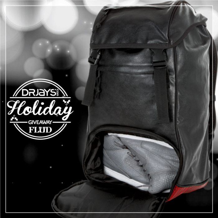 813c0838496f73 ... used to promote a Holiday 2014 giveaway along side the retail partner  DrJays.com. I used a new Holiday version of the Flud x Mayor Sneaker Tech  Bag.