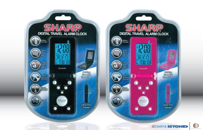 SHARP LCD Travel Alarm Clock by Michelle Stern at Coroflot com