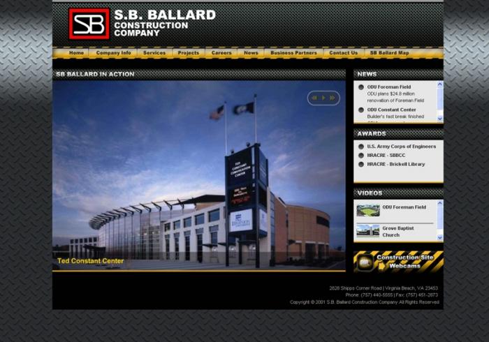 SB Ballard Construction Website by Paul Sanders at Coroflot com