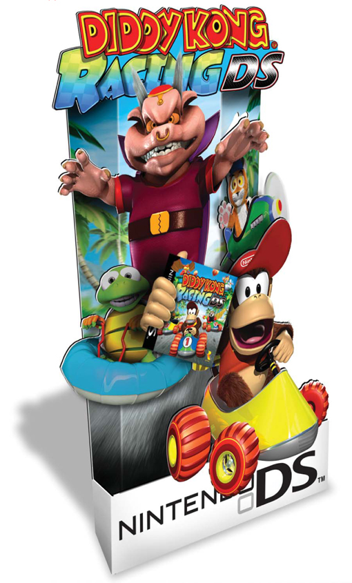 Nintendo Diddy Kong Racing Standee Counter Display By