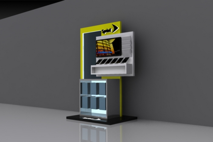 sprint kiosk in american airlines hq by jamie hall at