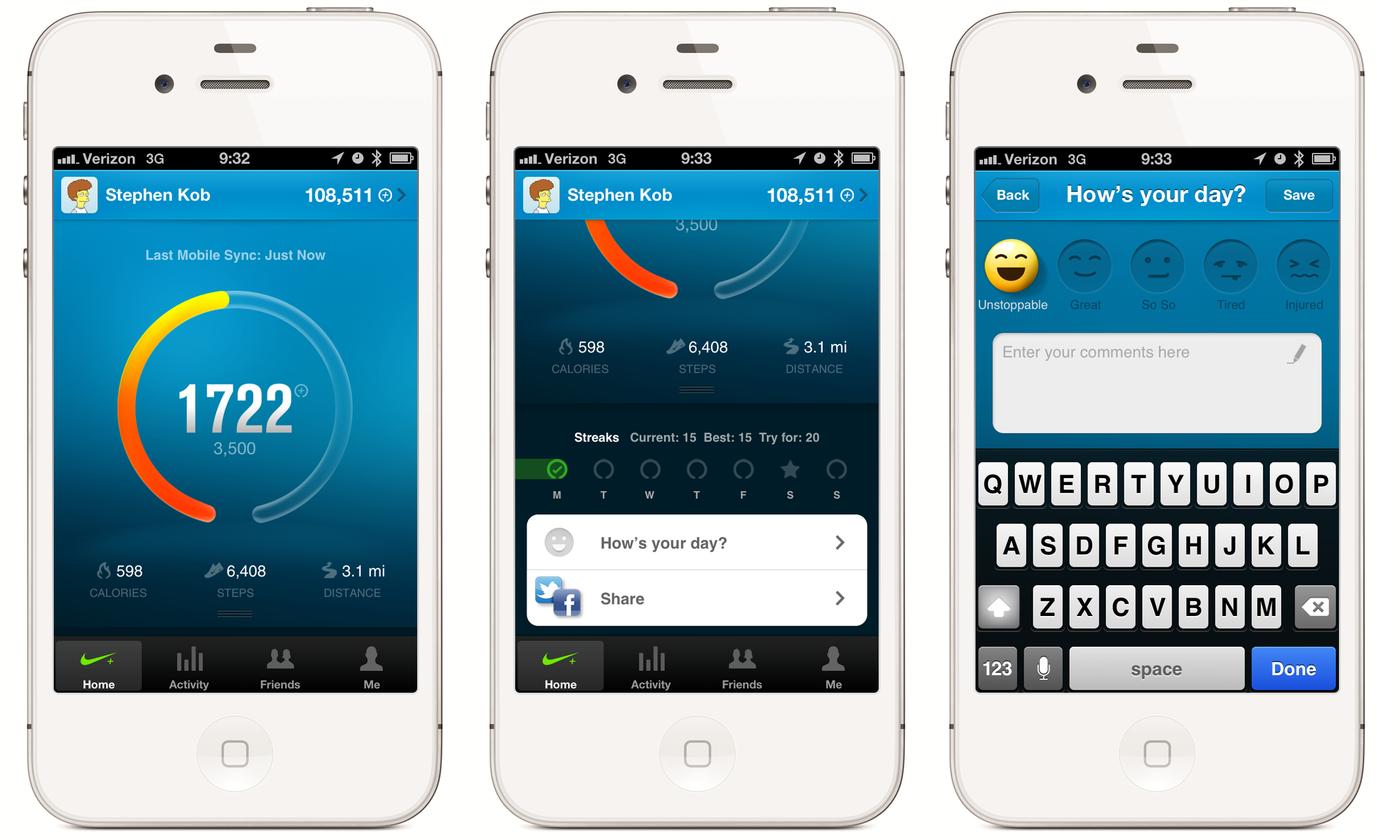 Nike Plus FuelBand App by Stephen Kob at Coroflot.com