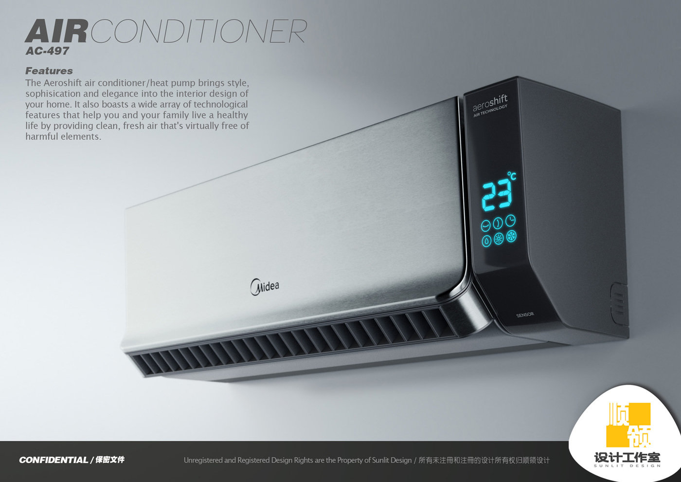 Midea Air Conditioner by Hugo Cailleton at Coroflot.com