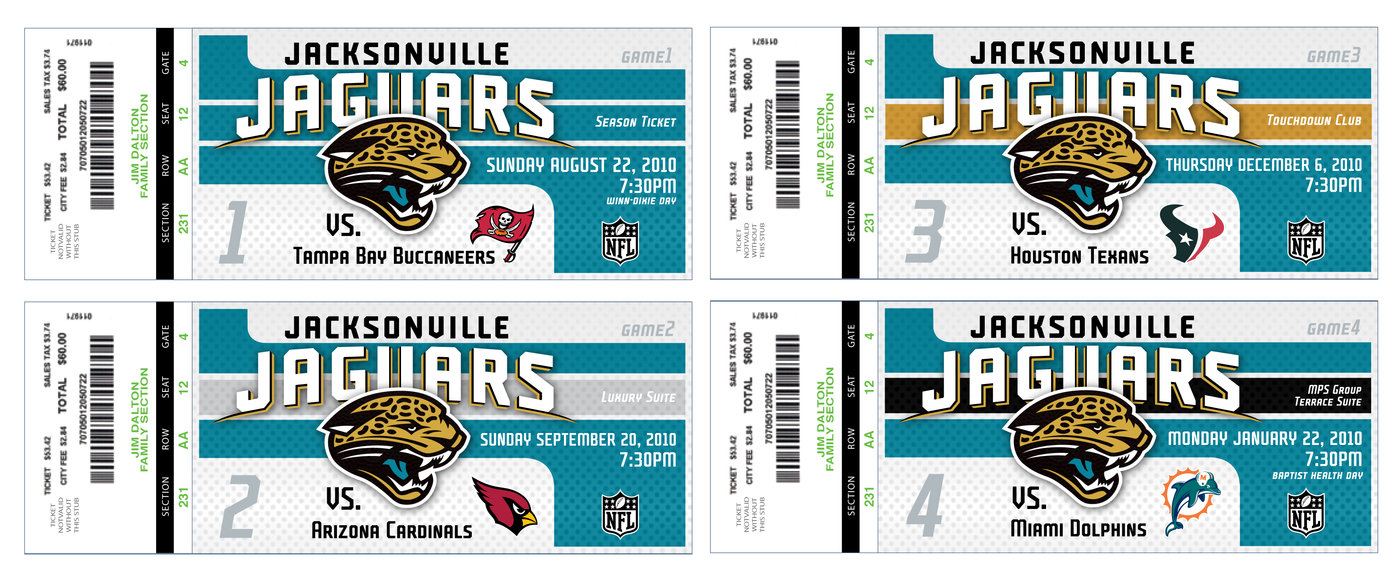 Beautiful Jacksonville Jaguar Season Ticket Design   Goal Was To Integrate A Fresh  And Wholesome Feel Into Previous Dark Look For Season Tickets While  Utilizing ...