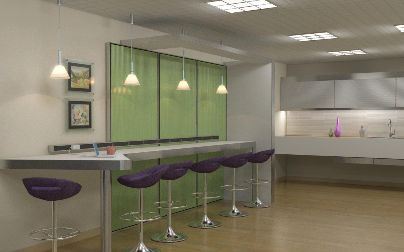 Kitchen Office Space Ideas