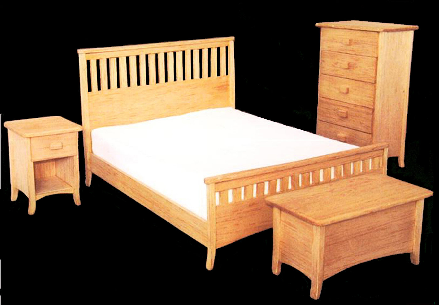 b60a5132c Bedroom collection (1 10 scaled model) - This furniture is a scaled model  made of balsa wood