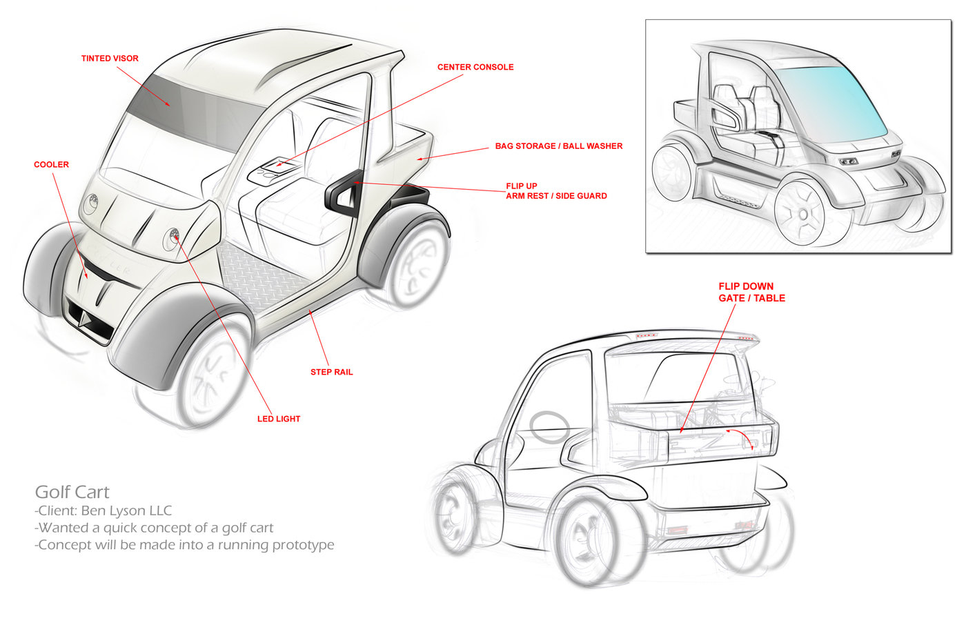 Lyson LLC Golf Cart by Phil Hall, MBA at Coroflot.com on
