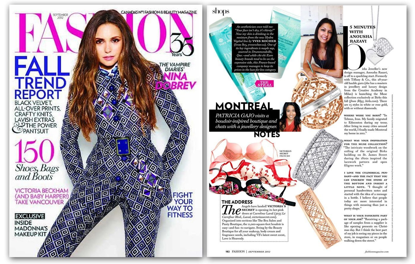 Anousha Razavi Article In Fashion Magazine Sept 2012 By Anousha Razavi At Coroflot Com