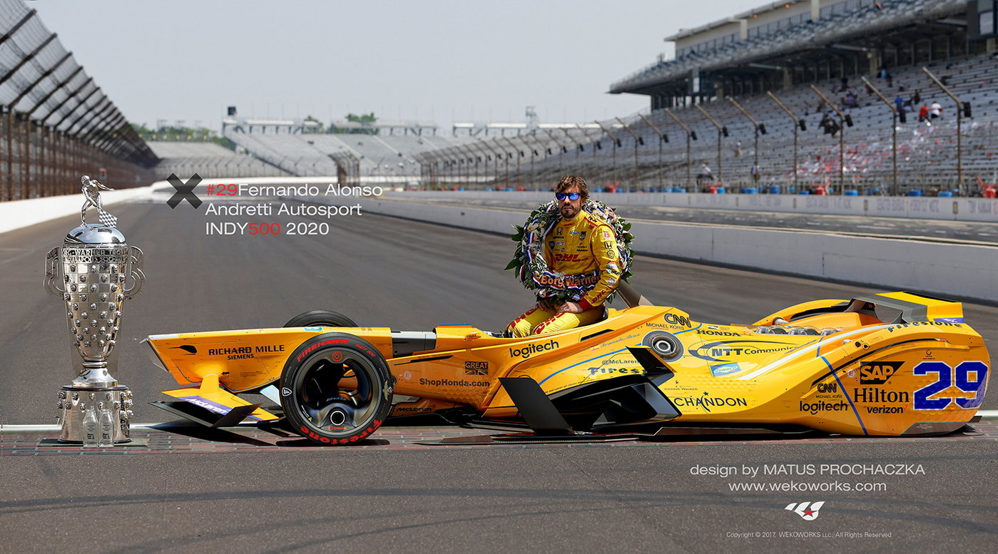 2020 Indy 500 Entry List.Alonso Indy500 Concept 2020 By Matus Prochaczka At Coroflot Com