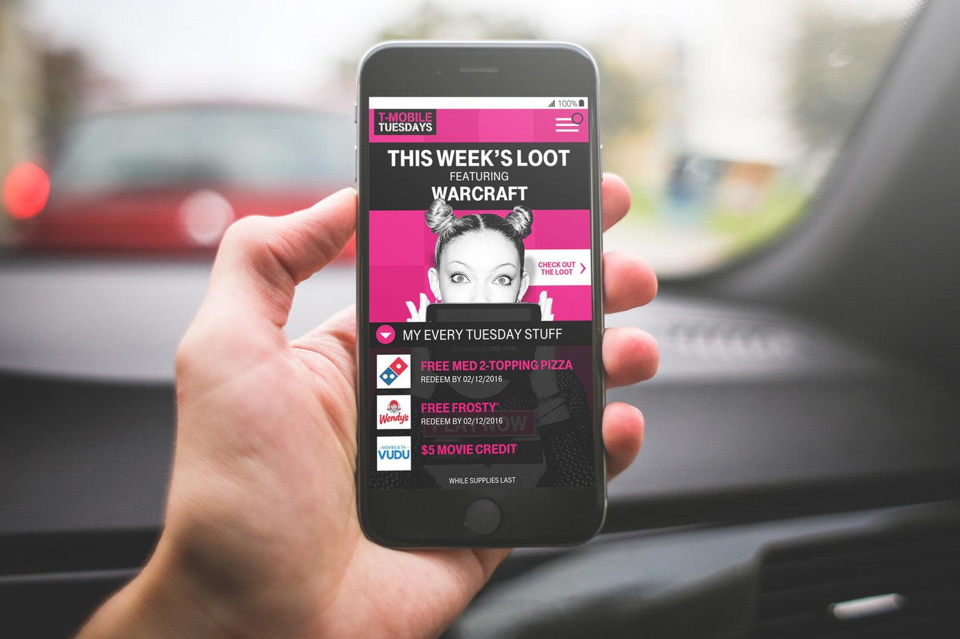 UI for T-Mobile Tuesdays by Sam Gensburg at Coroflot com