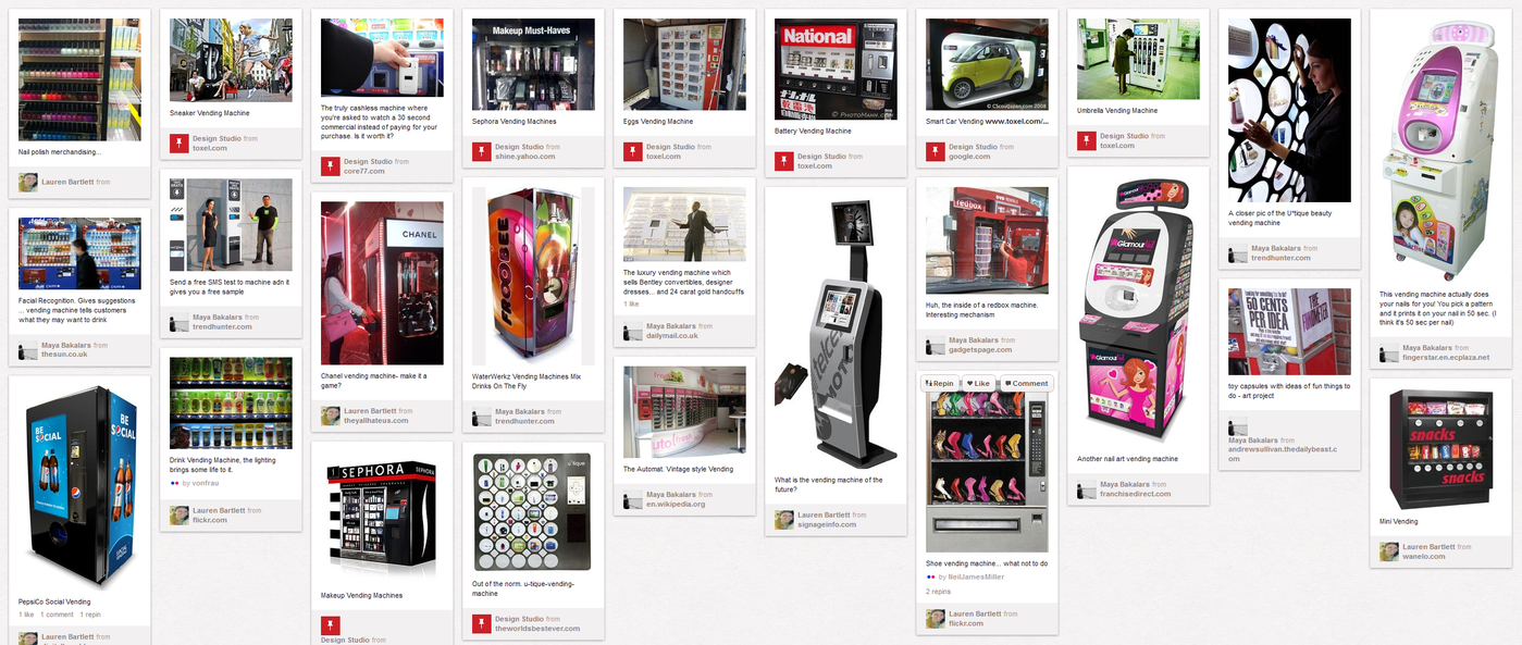 Maybelline Digital Vending by Coral Blanche Hummer at Coroflot.com