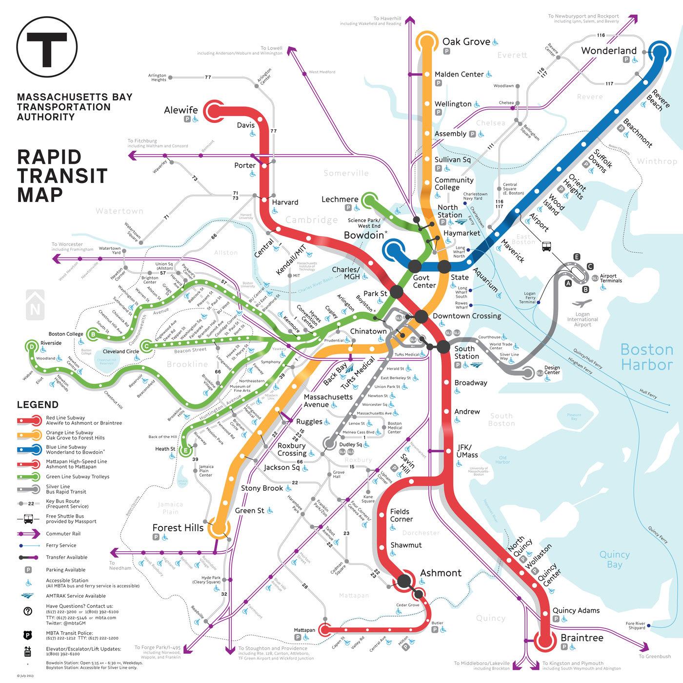 Mbta Subway Map Boston Ma.Boston Metro Map Competition Entry By Kenneth Miraski At Coroflot Com