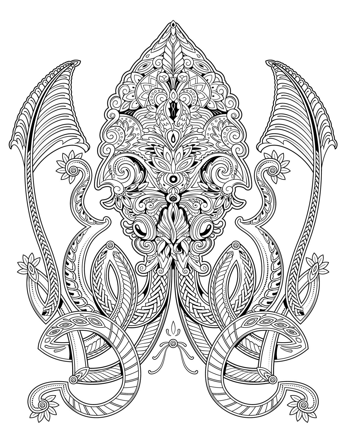 - Complex Coloring Pages By Mischell