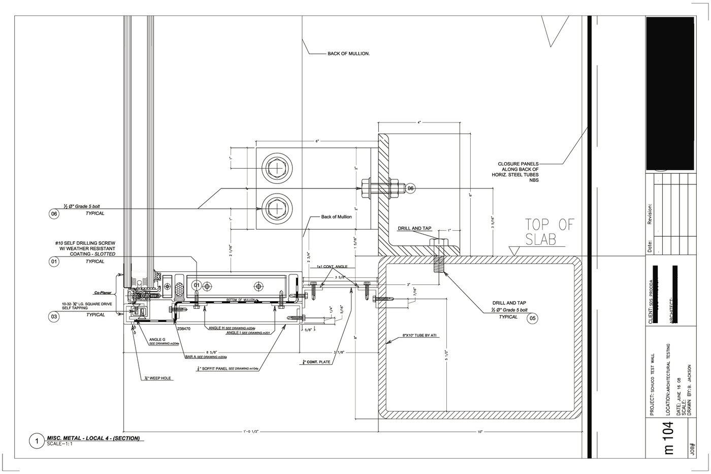 Curtain wall fabrication drawings curtain menzilperde net for Plan b design fabrication inc