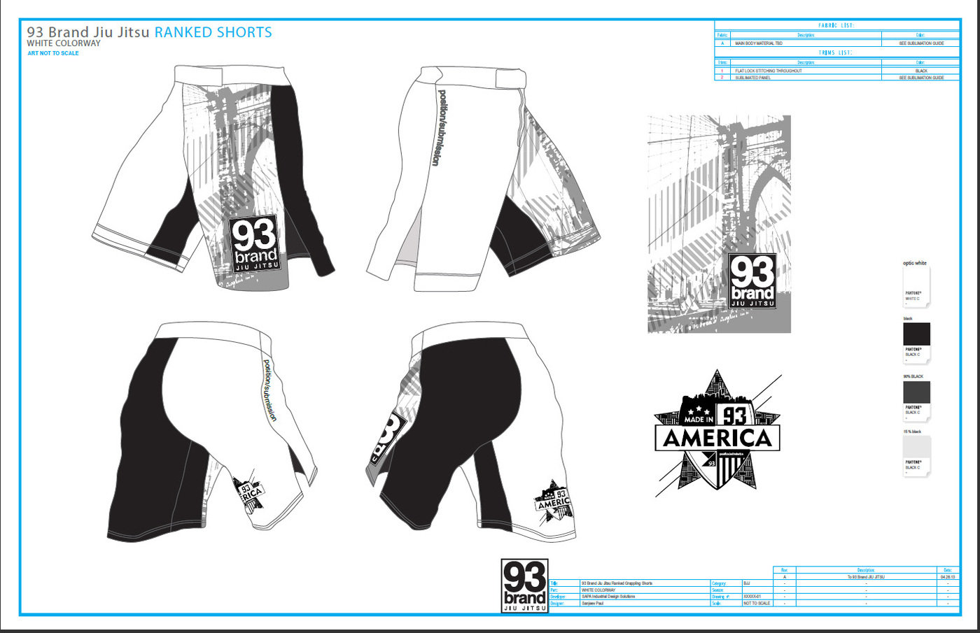 Grappling MMA Shorts by Sanjeev Paul at Coroflot com