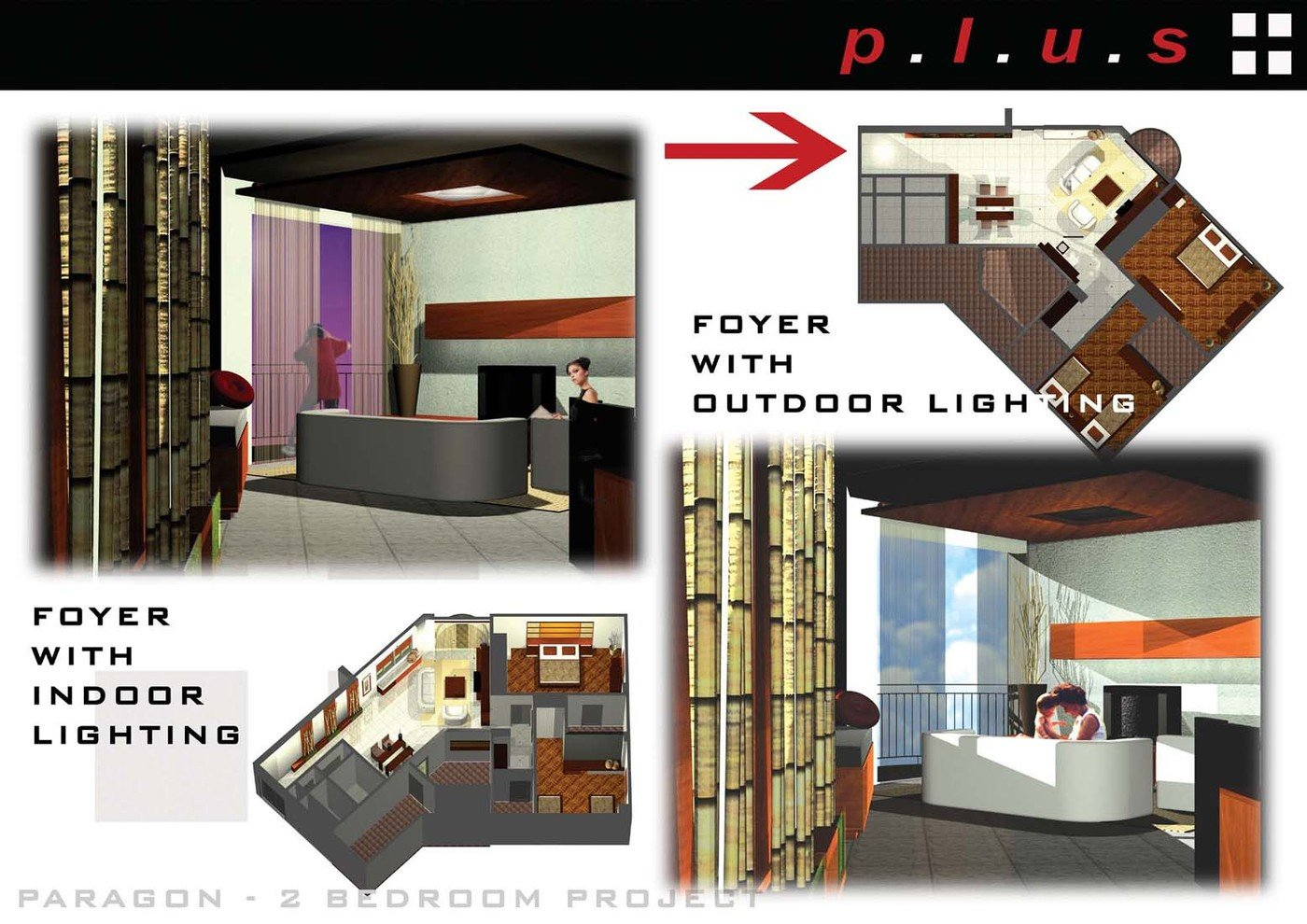 Project Description 2 Two Bedroom Apartment Presentation Team Plus Design Member Of 4 Four Jobs Share By Audryn