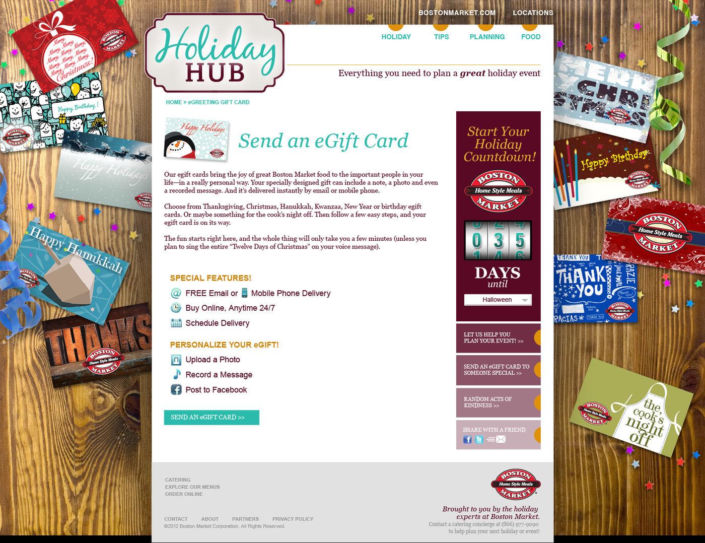 Boston Market Holiday Hub - Website by Kristen Villalongo at ...