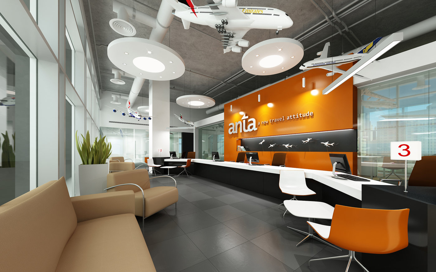 Designlab office renders by Edward Del Rosario at Coroflot com