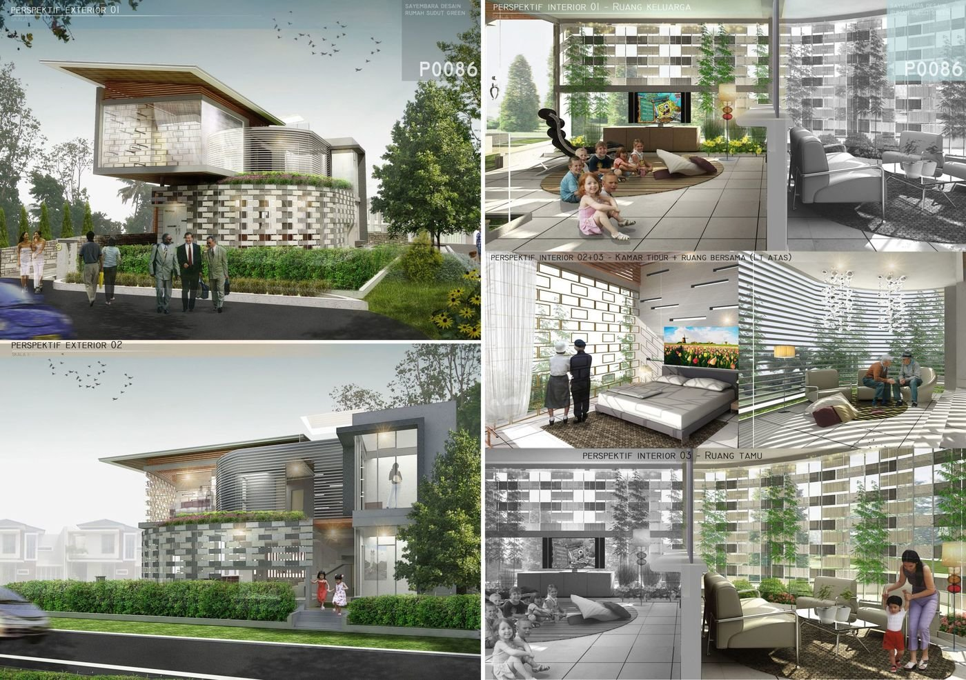 """""""Rumah Sudut Green"""" Competition by Housing Estate and Puri Botanical Residence - Competition Entry : """"Rumah Sudut Green"""" - Housing Estate"""
