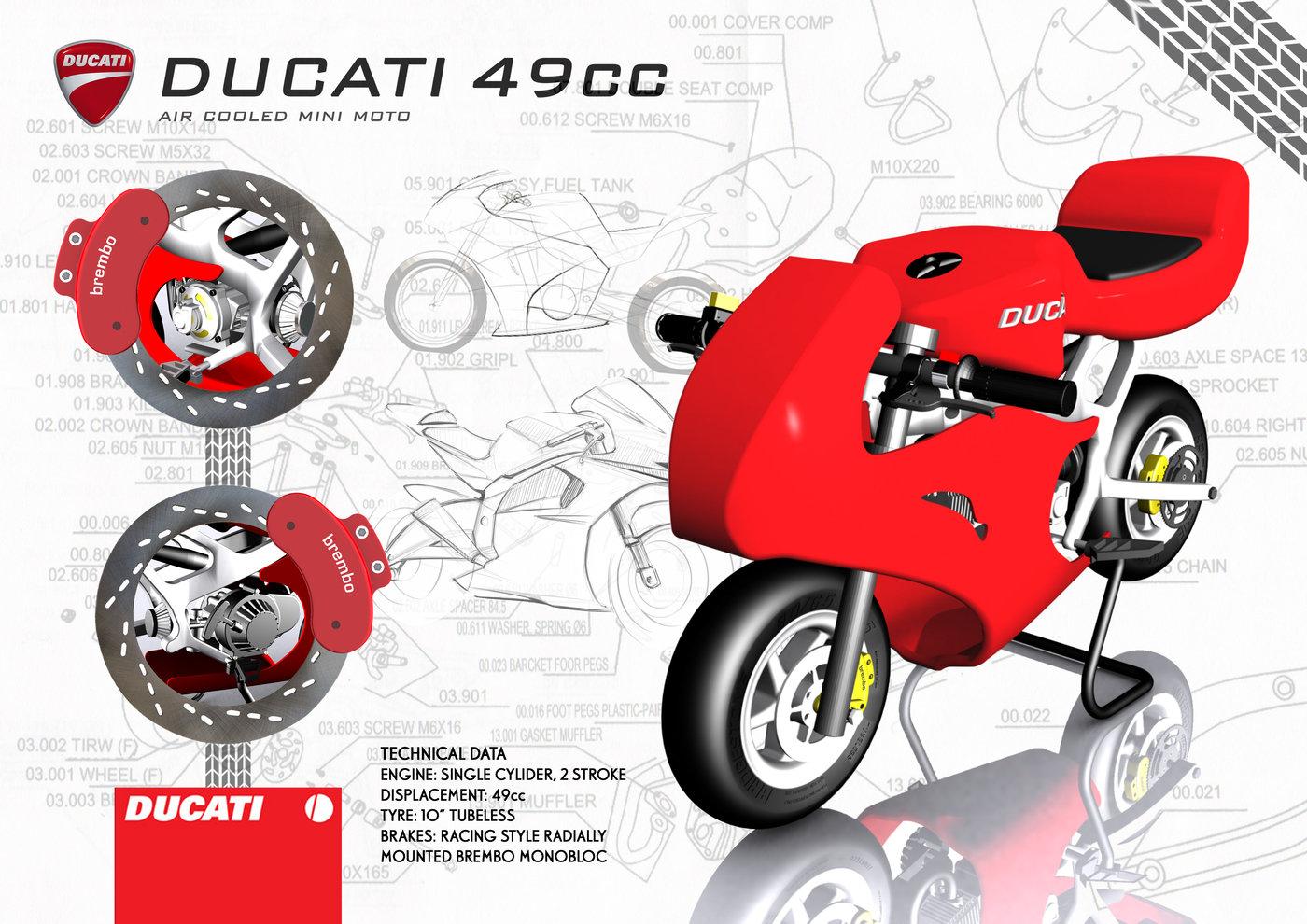 Ducati 49cc Mini Moto by Ashley Parker at Coroflot com