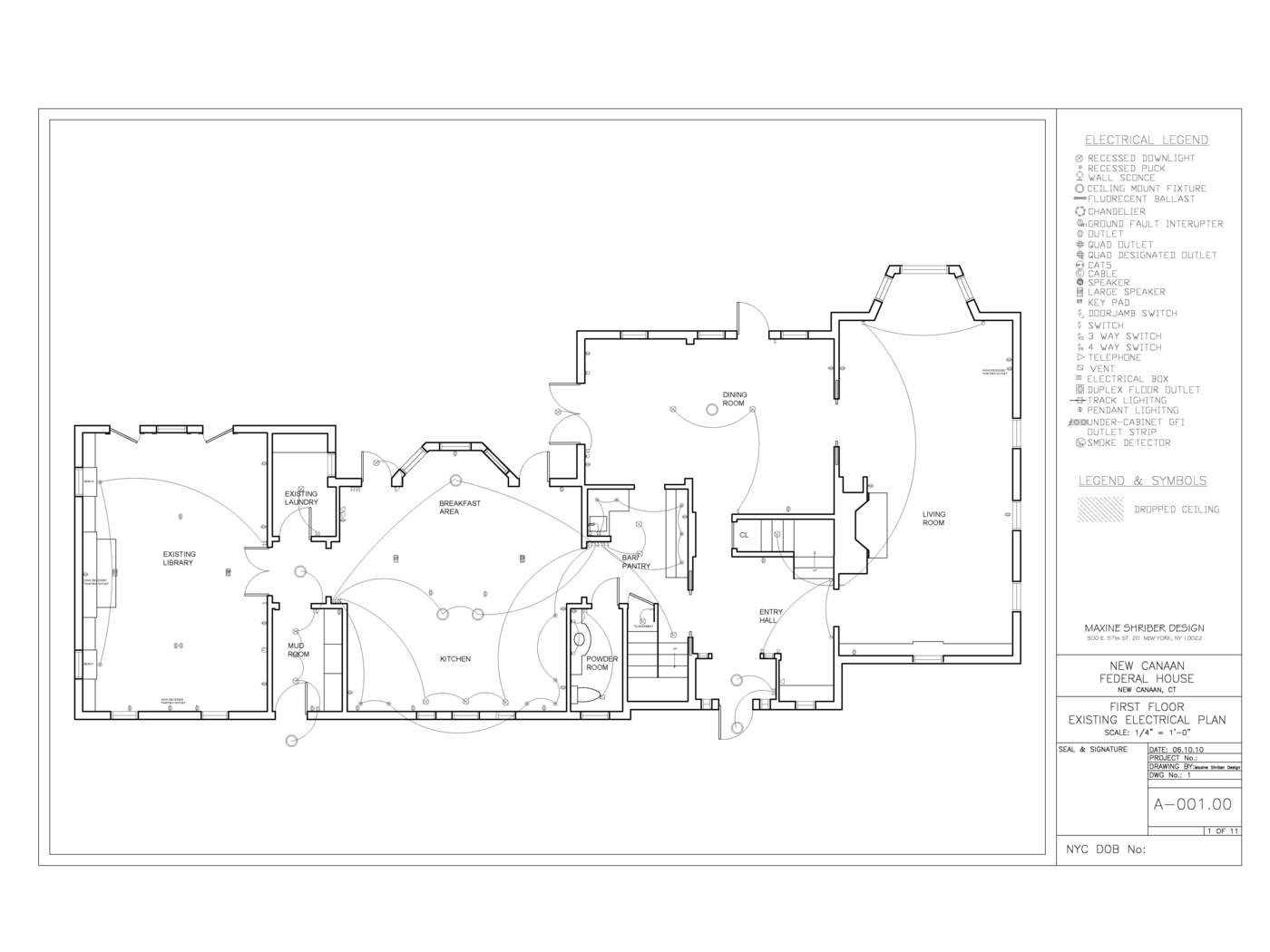 New Canaan Federal Home By Jena Haywood Leed Ap At Legend Of Electrical Plan First Fl Existing