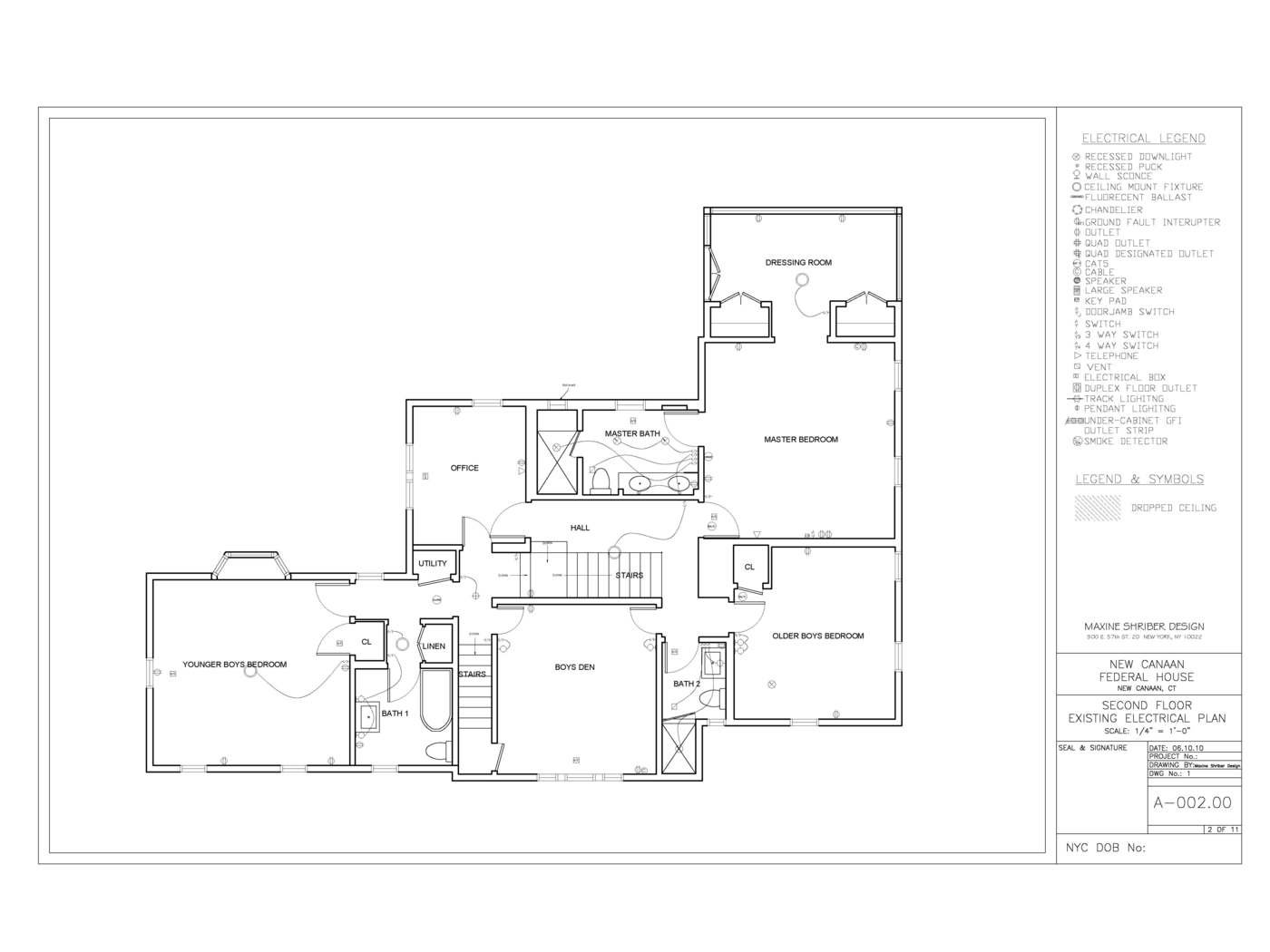 New Canaan Federal Home By Jena Haywood Leed Ap At 4 Way Switch Electrical Plan Second Fl Existing