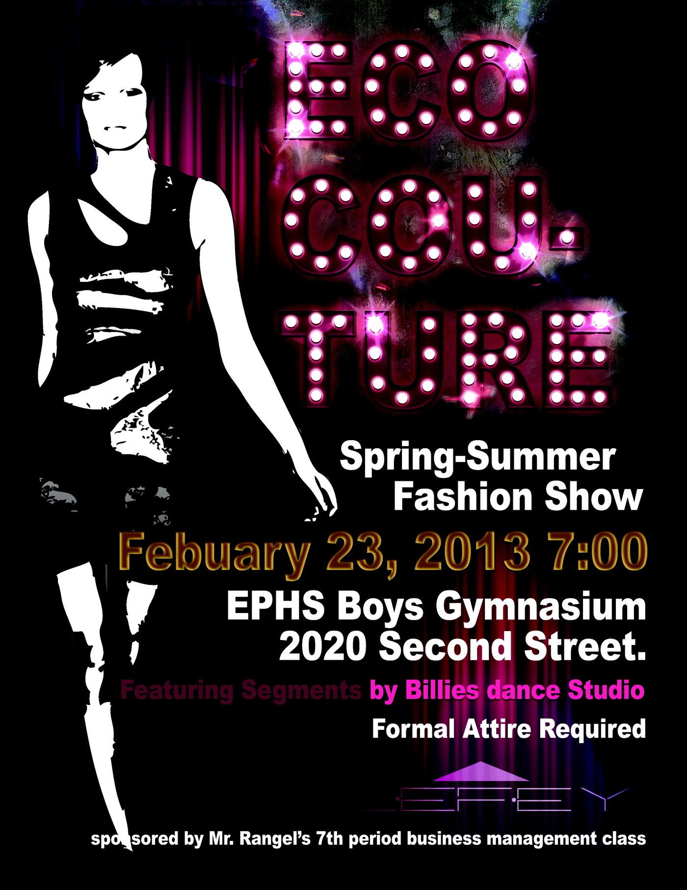 Eco Cou-ture fashion show posters by Michael Guilford at