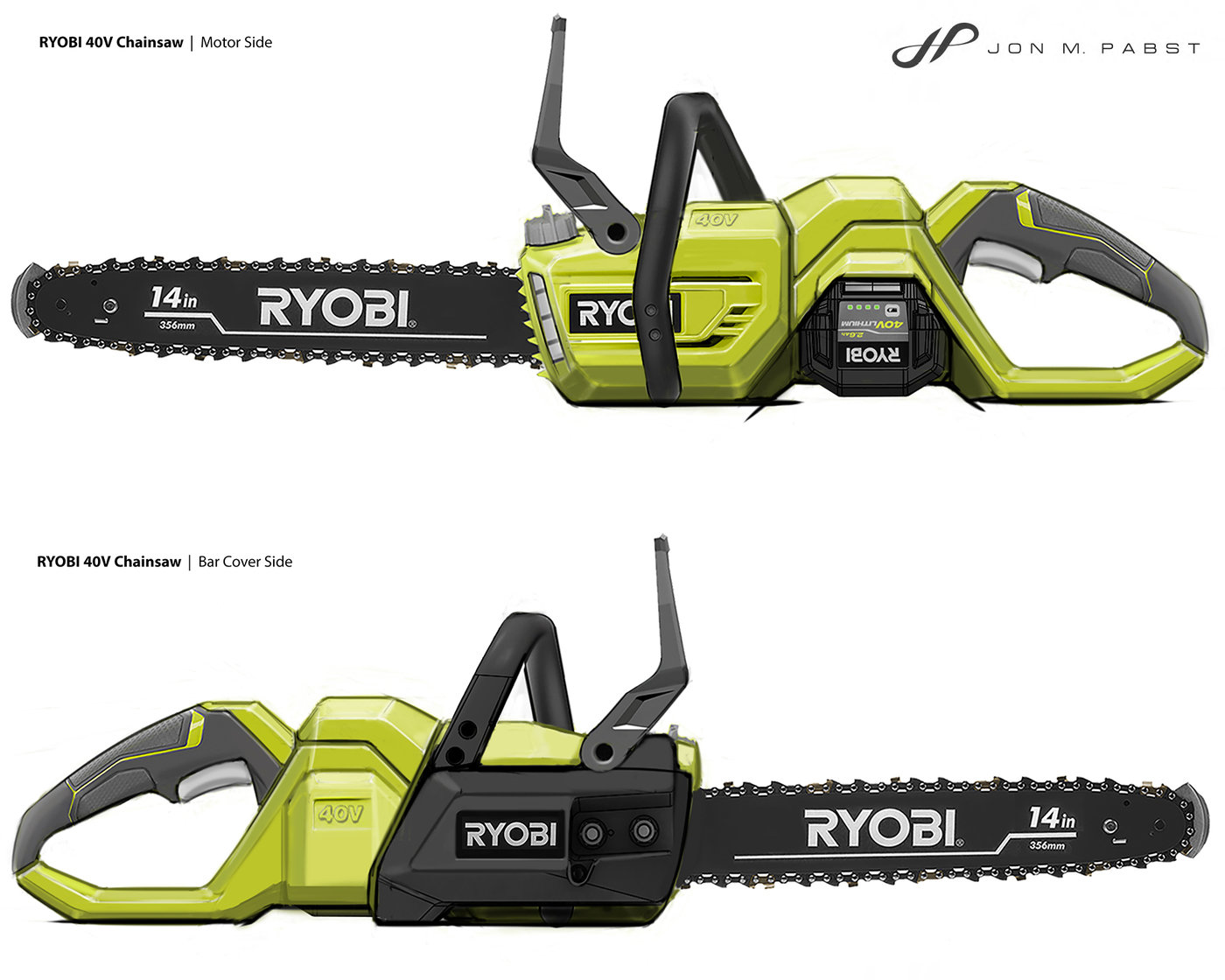 Ryobi 40v Cordless Chainsaw By Jon Pabst At Coroflot Com