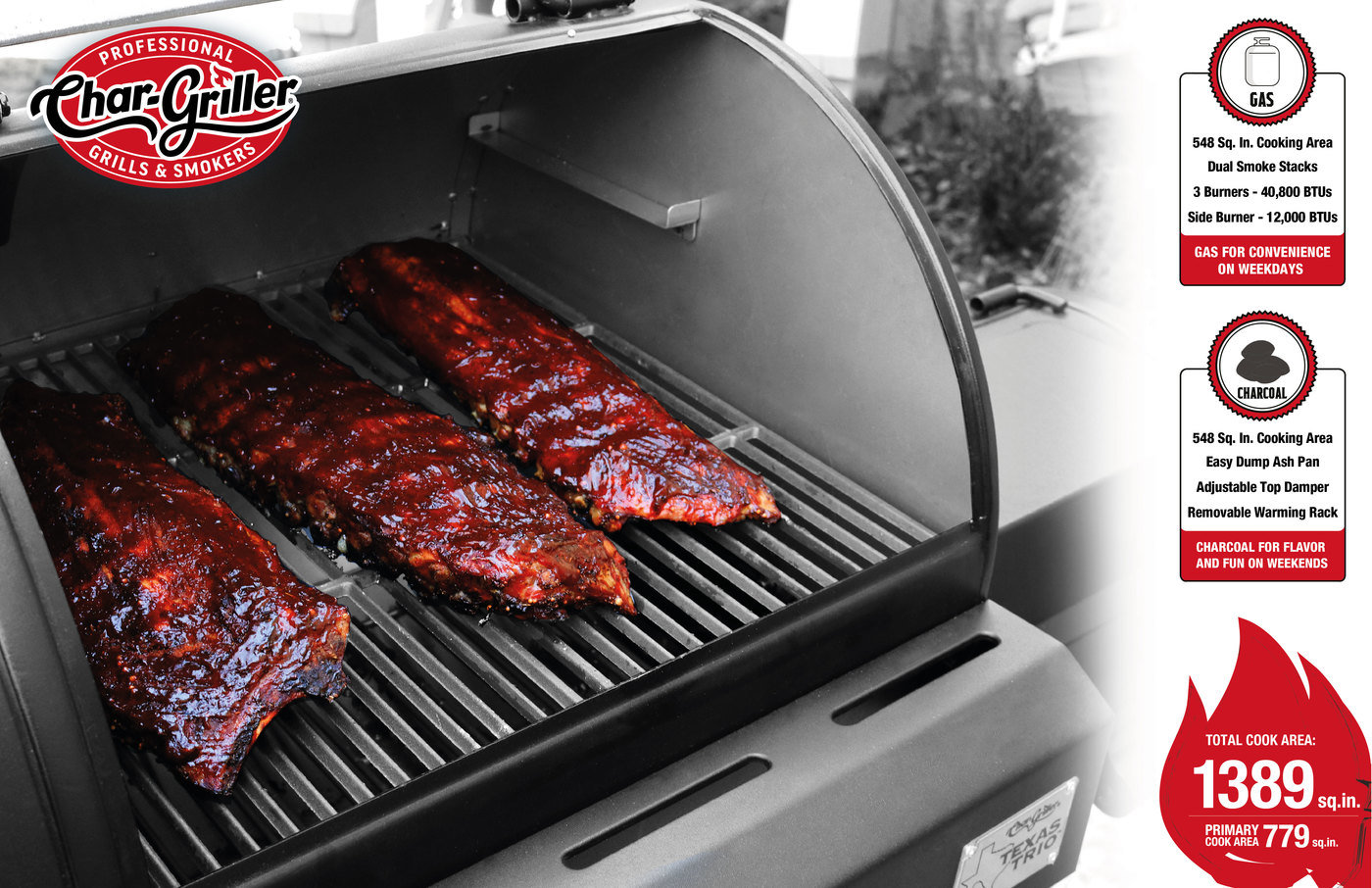 Texas Trio 3 Burner Dual Fuel Grill With Smoker By Lee Mcen At Coroflot