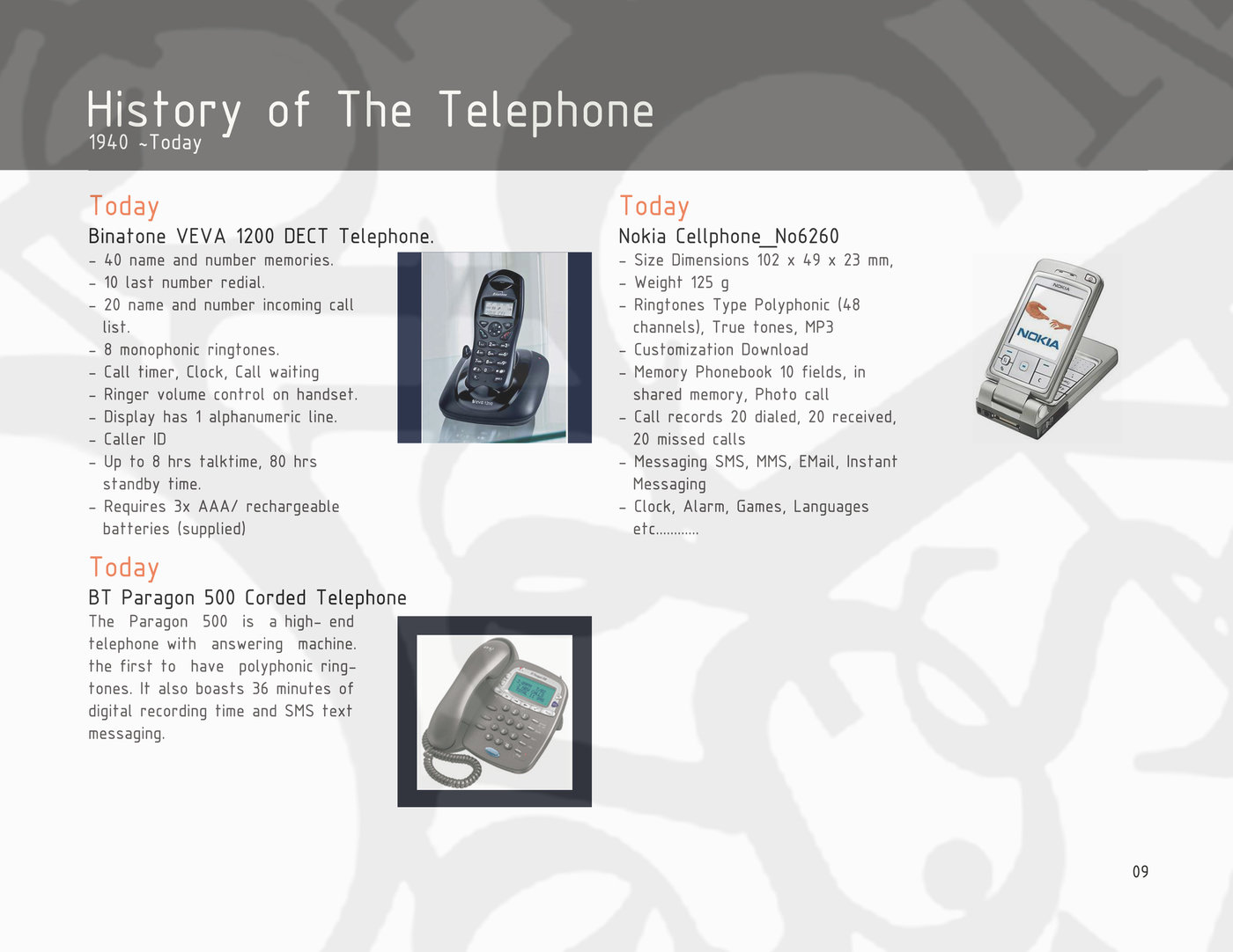 History of Telephone by Pui Chi Lam at Coroflot com