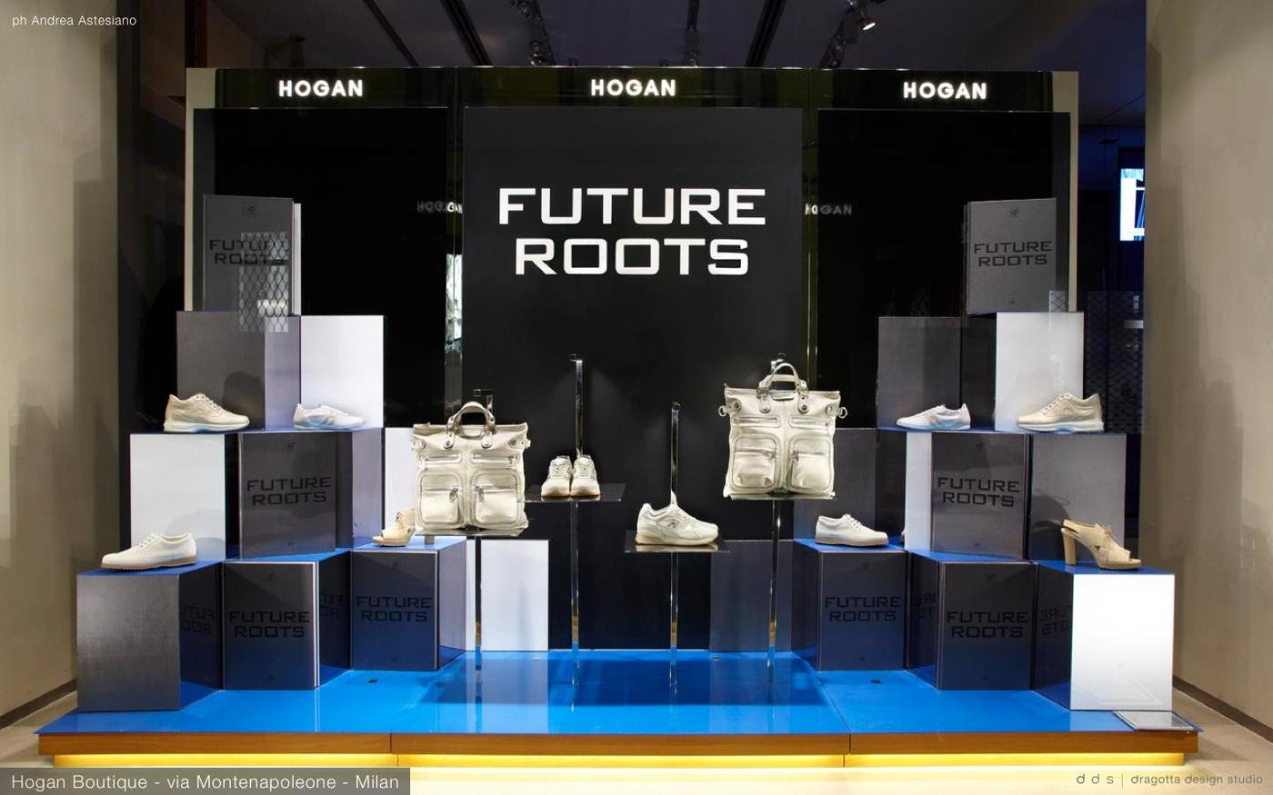 Tods Group - Hogan - window display for the event FUTURE ROOTS - boutique  Hogan Milan - Design of the window display 2b9fe7357ad