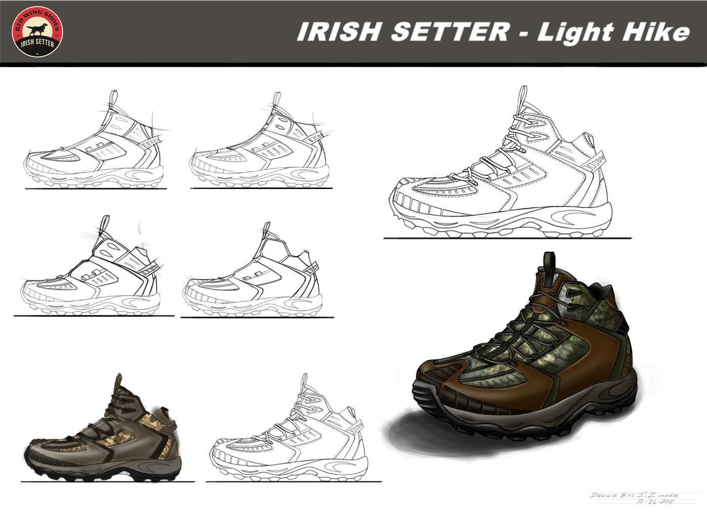 Various footwear designs by Jamie Zimmer at Coroflot.com