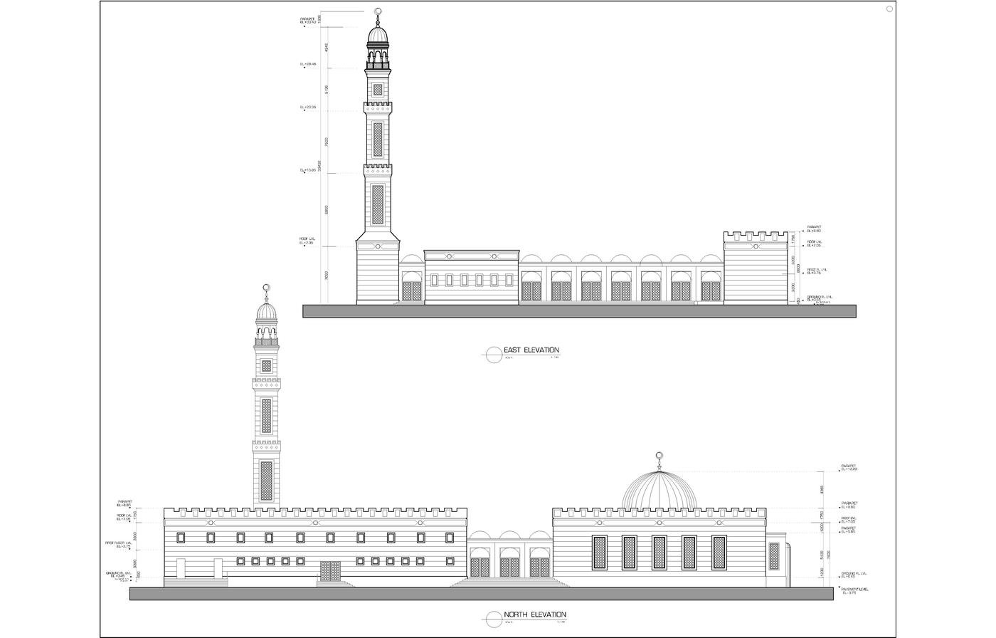 Mosque Detail: Architecture Drawings By Mohammed Asim Baig At Coroflot.com