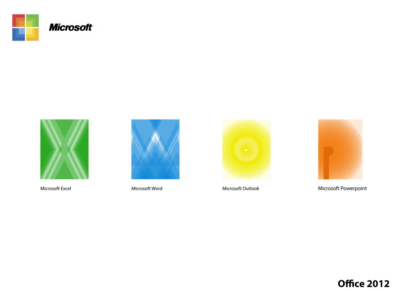 Microsoft Office 2012 icons by Steven Paxton at Coroflot com