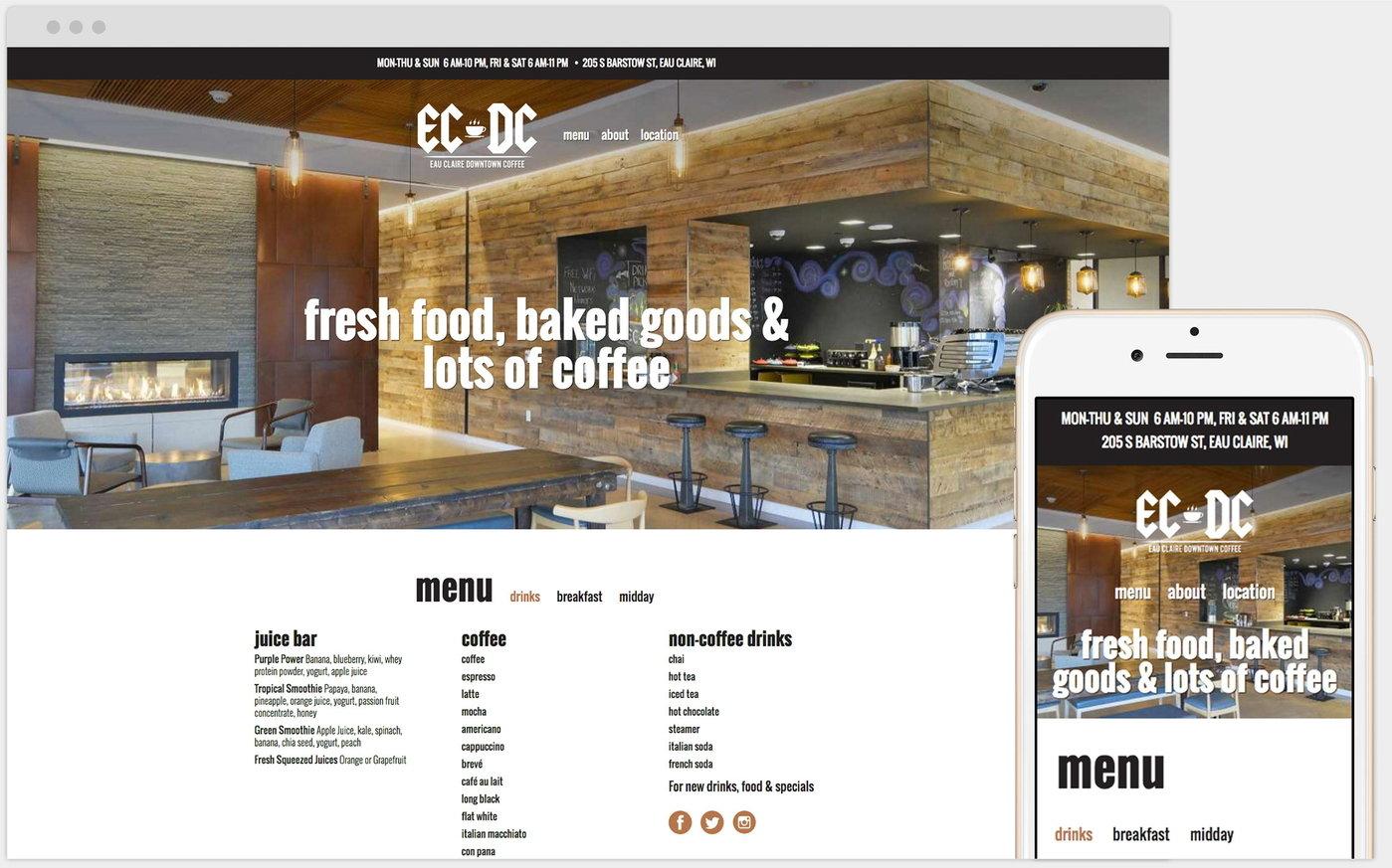 Eau Claire Downtown Coffee Ecdc By Sarah Shuda At Coroflot Com