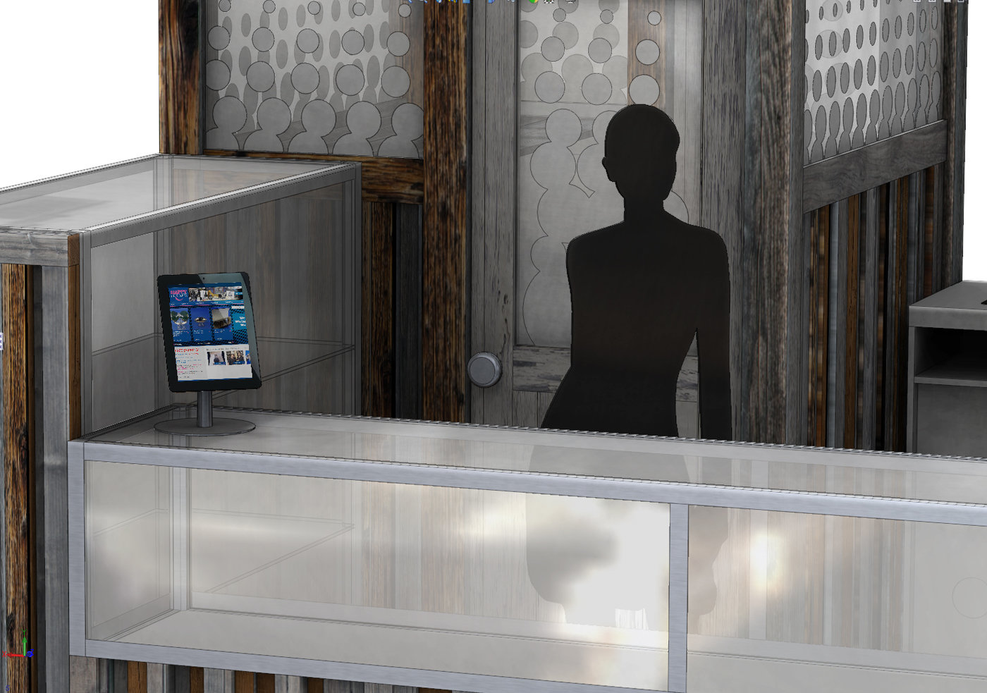 Kiosk and store design by Zee Ayad at Coroflot com
