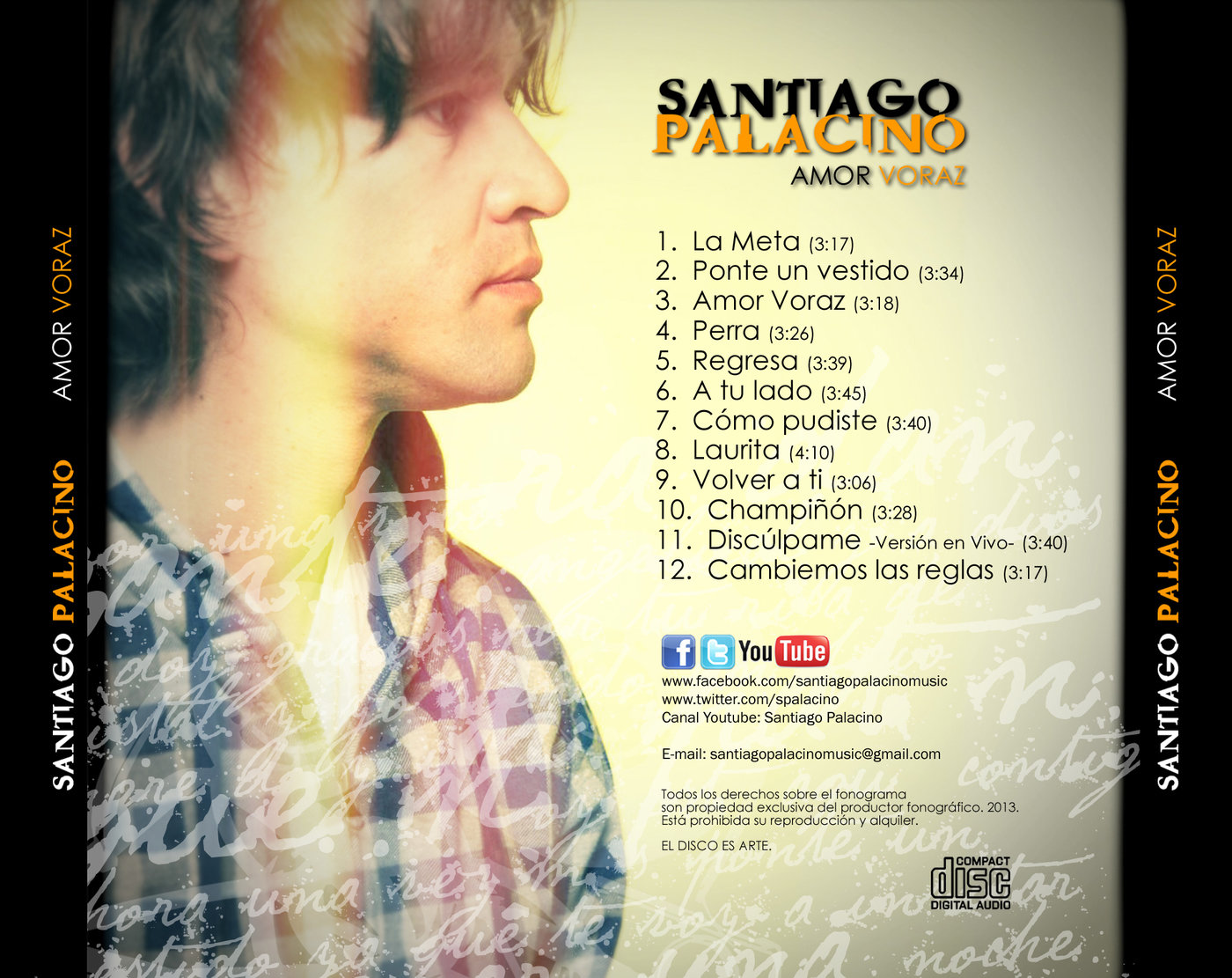 Amor Voraz santiago palacino cd 2013hernán d. alvarado at coroflot