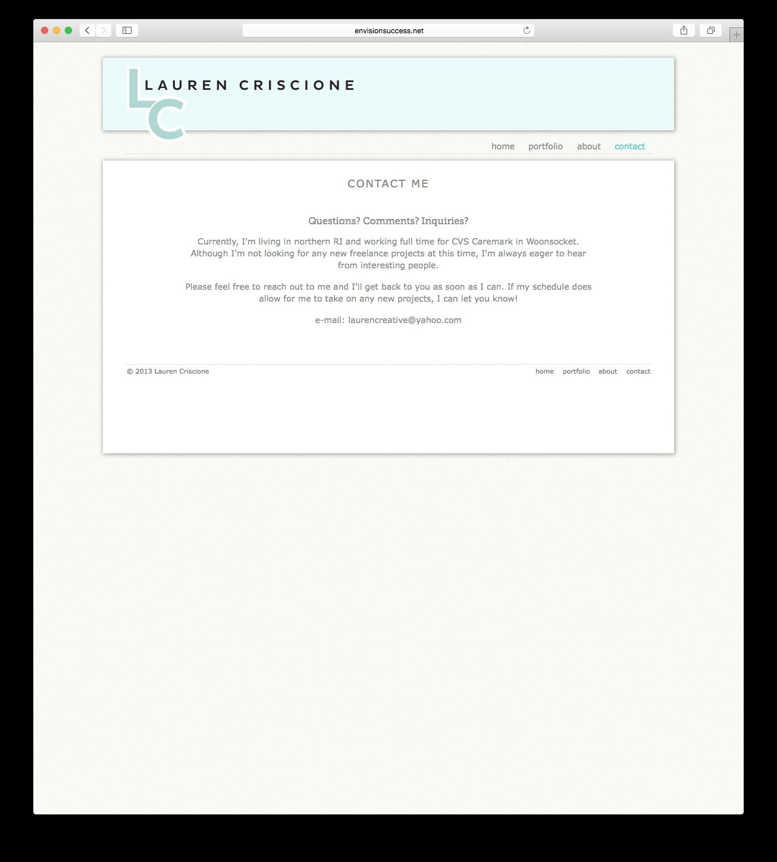 Responsive portfolio website design by Lauren Criscione at