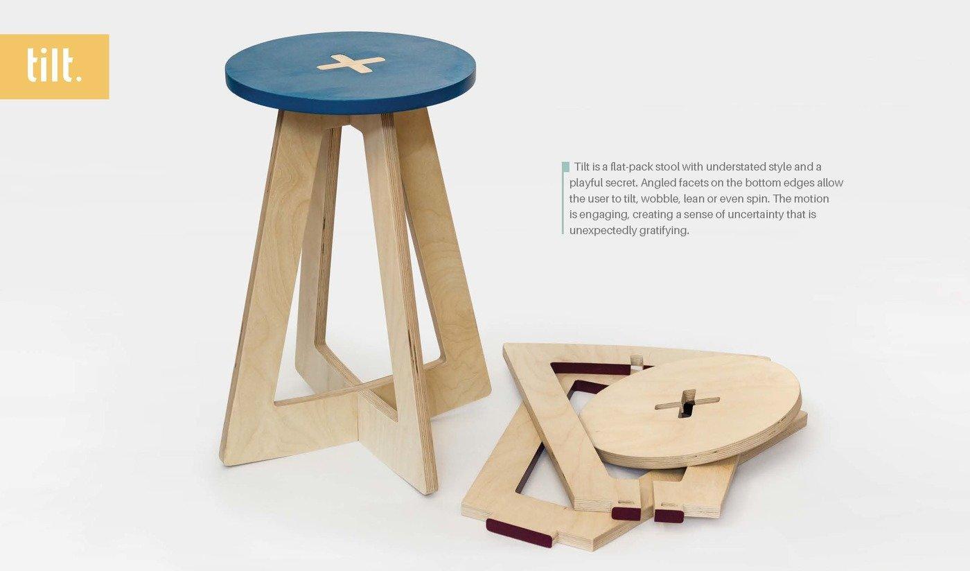 Marvelous Tilt Stool By Leah K S Amick At Coroflot Com Theyellowbook Wood Chair Design Ideas Theyellowbookinfo