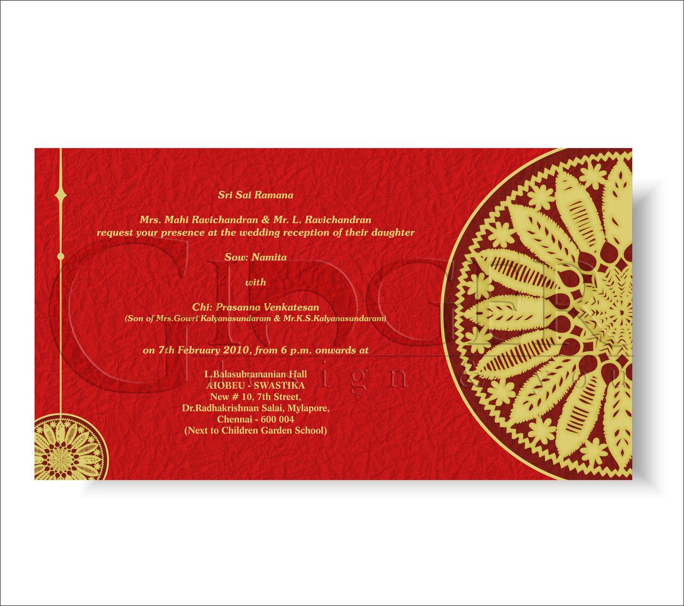 Designer Wedding Invitations by Yogini Visuals at Coroflot.com