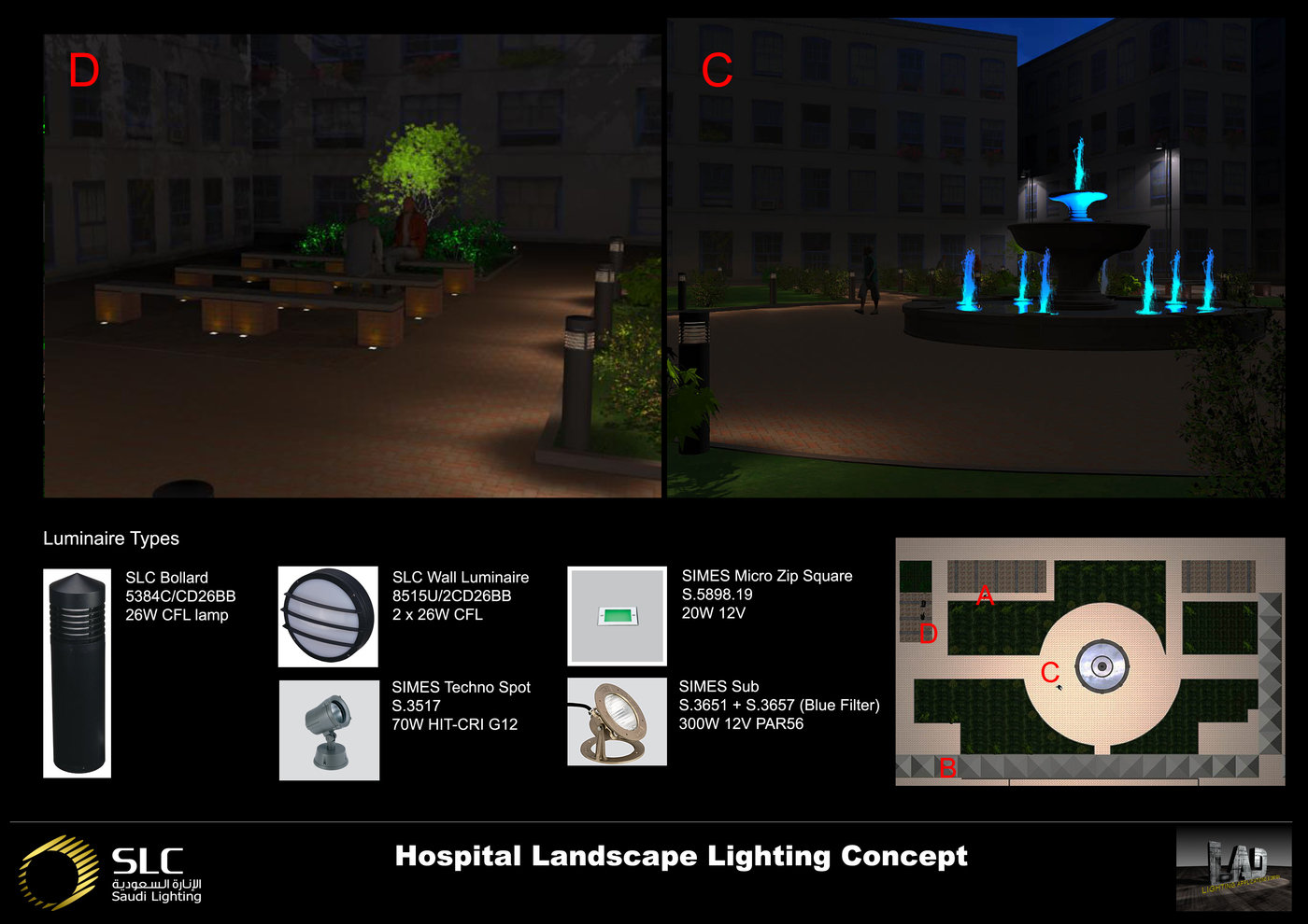 Lighting design proposal exterior by light visualizer at coroflot.com