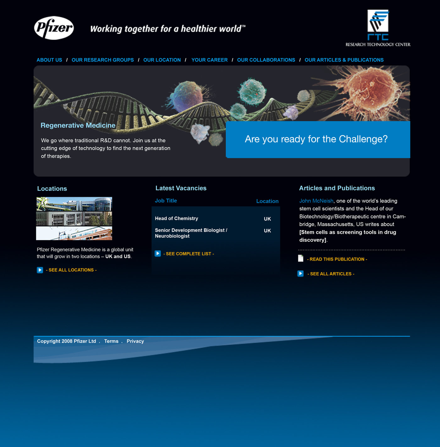 Pfizer Website by Gavin Ward at Coroflot com