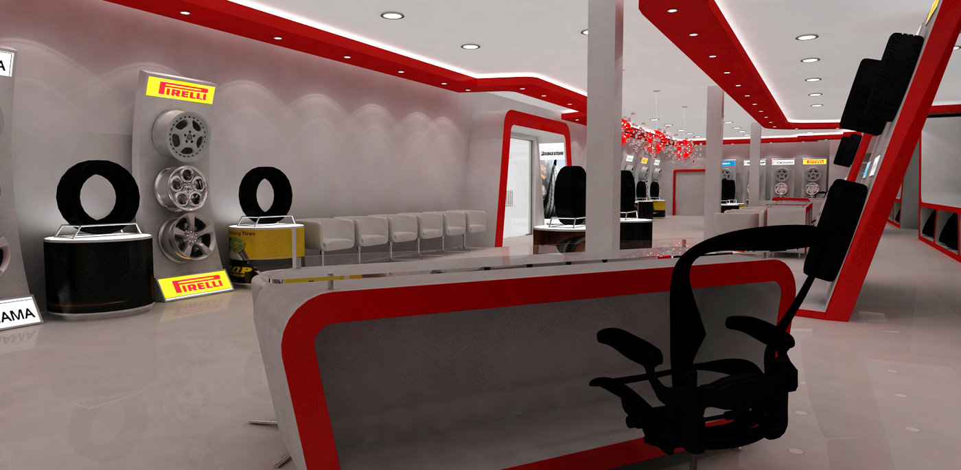 Exhibition Stand Car : Automotive tyre showroom concept by yahkoob valappil at