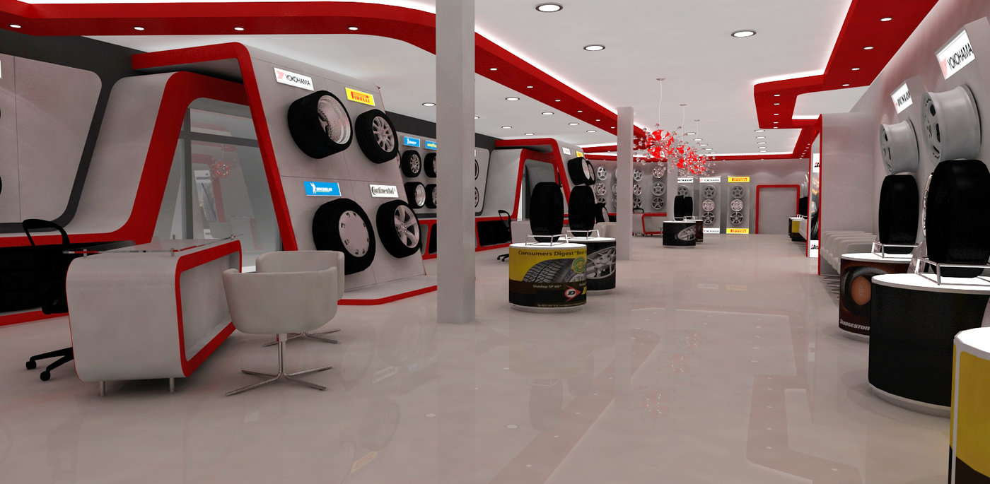 Automotive Tyre Showroom Concept By Yahkoob Valappil At Coroflot Com