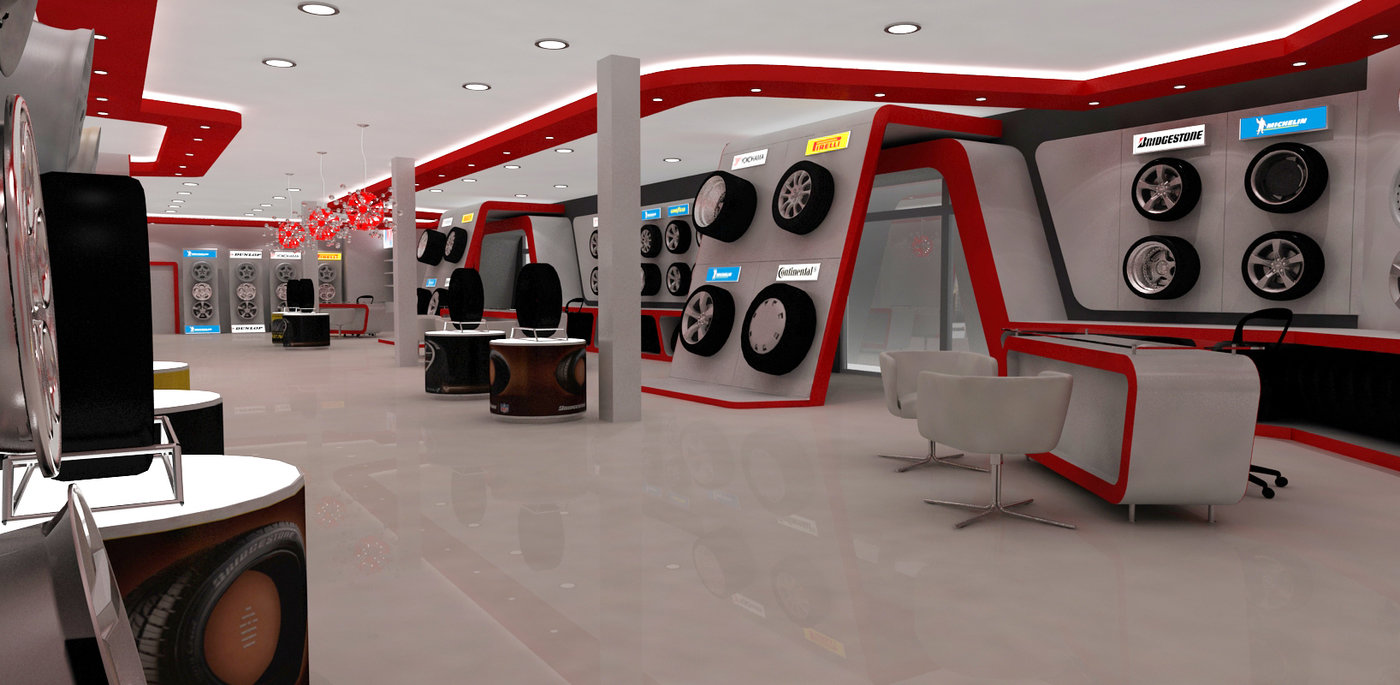Exhibition Stand Design Jobs In Dubai : Automotive tyre showroom concept by yahkoob valappil at